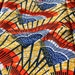 "Last Piece- Wavy Triangle: Mustard, Blue, Orange BATIK Ankara, African wax print fabric / 1 yard x 46"" / Tribal African Fashion Supplies"