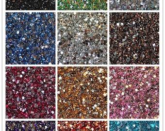1000 PCS Crystal Flat Back Acrylic Rhinestones Gems 4mm SS16