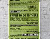 11X17 30 Rock LIZ LEMON Quotes Poster: Wisdom Of Liz Lemon
