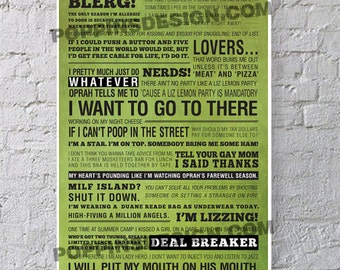 11X17 30 Rock LIZ LEMON Quotes Poster: Wisdom Of Liz Lemon