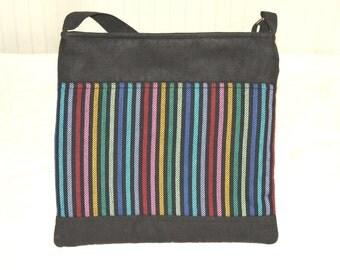MESSENGER // SMALL Bag Black with Hoppediz Timbuktu