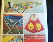 Vintage Pattern Simplicity 6256 Decorator Pattern - Laundry Room Accessories.  Apron, Ironing Board Cover, and More