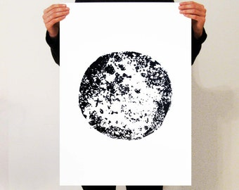 Moon Screen-print Poster