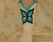 Crochet Boots Pattern------Capezio Inspiried------BUTTERFLY COWBOY BOOTS------style 2------street boots with heel-----Make Em Yourself