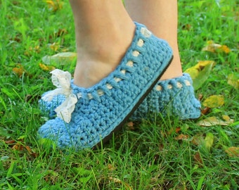 Crochet Street Shoes Pattern--------DENIM & LACE FLATS-------Espadrilles,Maryjanes,sandals,slippers,child to adult So easy