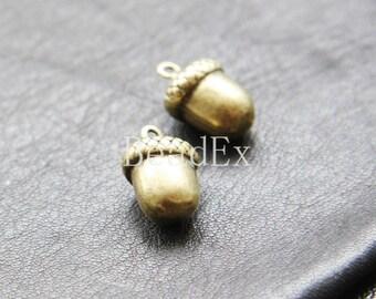 6pcs / Acorn / Antique Brass / Base Metal / Charm (Y20297//E290)
