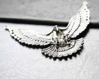 One Piece / Eagle / Pendant / Oxidized Silver Tone / Base Metal (C193//J255)