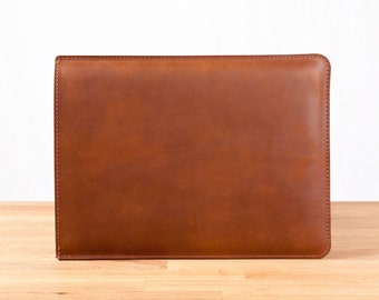 """13"""" MacBook Pro Leather Sleeve Case in Brown"""