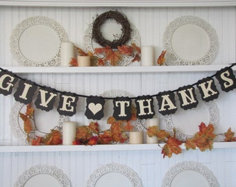 GIVE THANKS Banner for the Thanksgiving Season