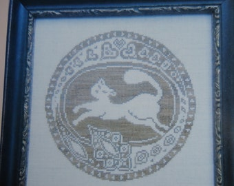 """The Workbasket """"Cat Roundel"""" Counted Cross Stitch Chart"""