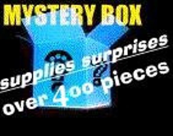 not quite a mystery and NO Acrylic .. MYSTERY Supplies Box ..Over 400 pieces ... Jewelry Supplies for crafters and Jewelry designers