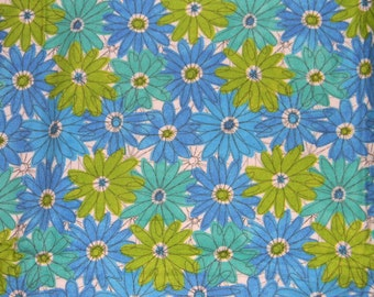 Green, Teal, White, and Blue Flowered XL Receiving Blanket