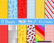 Wizard of Oz Digital Papers, digital backgrounds Inspired, Digital paper, Birthday Party - INSTANT DOWNLOAD