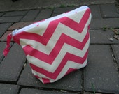 Cosmetic Bag Chevron Great for Purse, Diaper Bag Waterproof, Smell proof Wet Bag