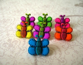 Butterfly Thumbtack, Butterflies Push Pin, Butterfly Notice Board Pins