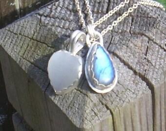 Tear Drop Labradorite necklace