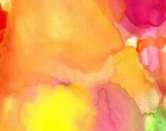 Art Print Large, Watercolor Painting, Peace