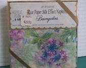 Baumgarten's Rice Paer Silk Effect Luncheon Napkins