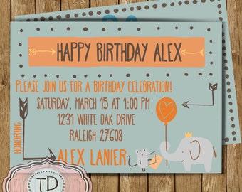 Birthday Party Invitation, Customizable, Printable