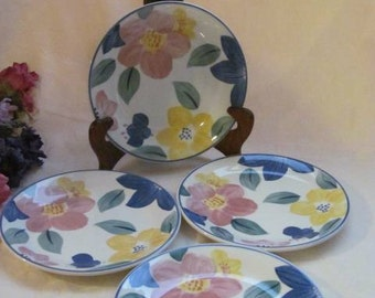Johnson Bros Brothers Bread / Salad Plates Made in England Floral Marie Pattern