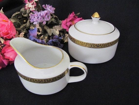 Gold Buffet Royal Gallery Cream Sugar Set 1991 Serving Fine
