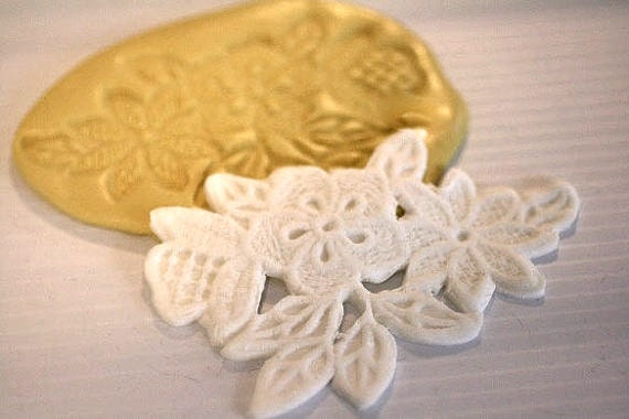 Cake Decorating Lace Molds Uk : Floral lace mold for cake decorating chocolate by ...