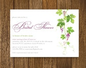 Digital listing for Diane - Wine Tasting Bridal Shower Invitation