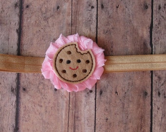 Cookie Headband | Chocolate Chip Cookie Headband | Birthday Headband, Newborn-Adult, Other Colors Available