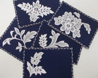 Lace and Cloth Postcards - Set of 5