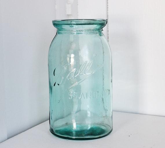 Blue ball standard wax seal mason jar shabby wedding decor - Decorative fruit jars ...