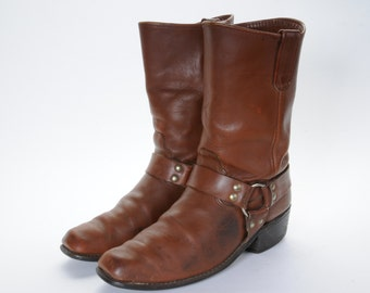 1960's Men's Harness Boots Size 8 .5