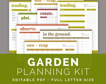 Garden Planning Kit Editable Garden Calendars Crop
