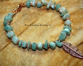 RESERVED For KATE - Custom Order - Amazonite And Copper Necklace And Anklet - Sodalite Bracelet - Natural Stone Jewelry