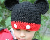 Crochet Mickey Mouse hat made to order