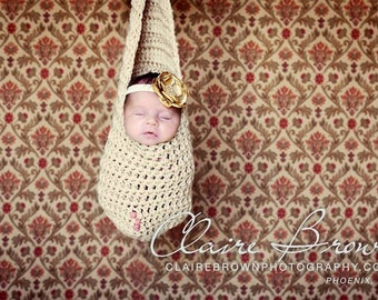 Hanging Cocoon Newborn Photo Prop, Stork Pouch Photo Prop, Newborn Photography Prop, Hanging Sack Photo Prop, Newborn Cocoon Photo Prop
