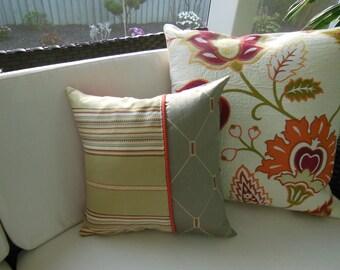 Rustic Pillow - Southwestern Decorative Pillow - Throw Pillow - 15 x 15 inch Reversible - Classy Crimson Design Pillow -  Rustic Retreat