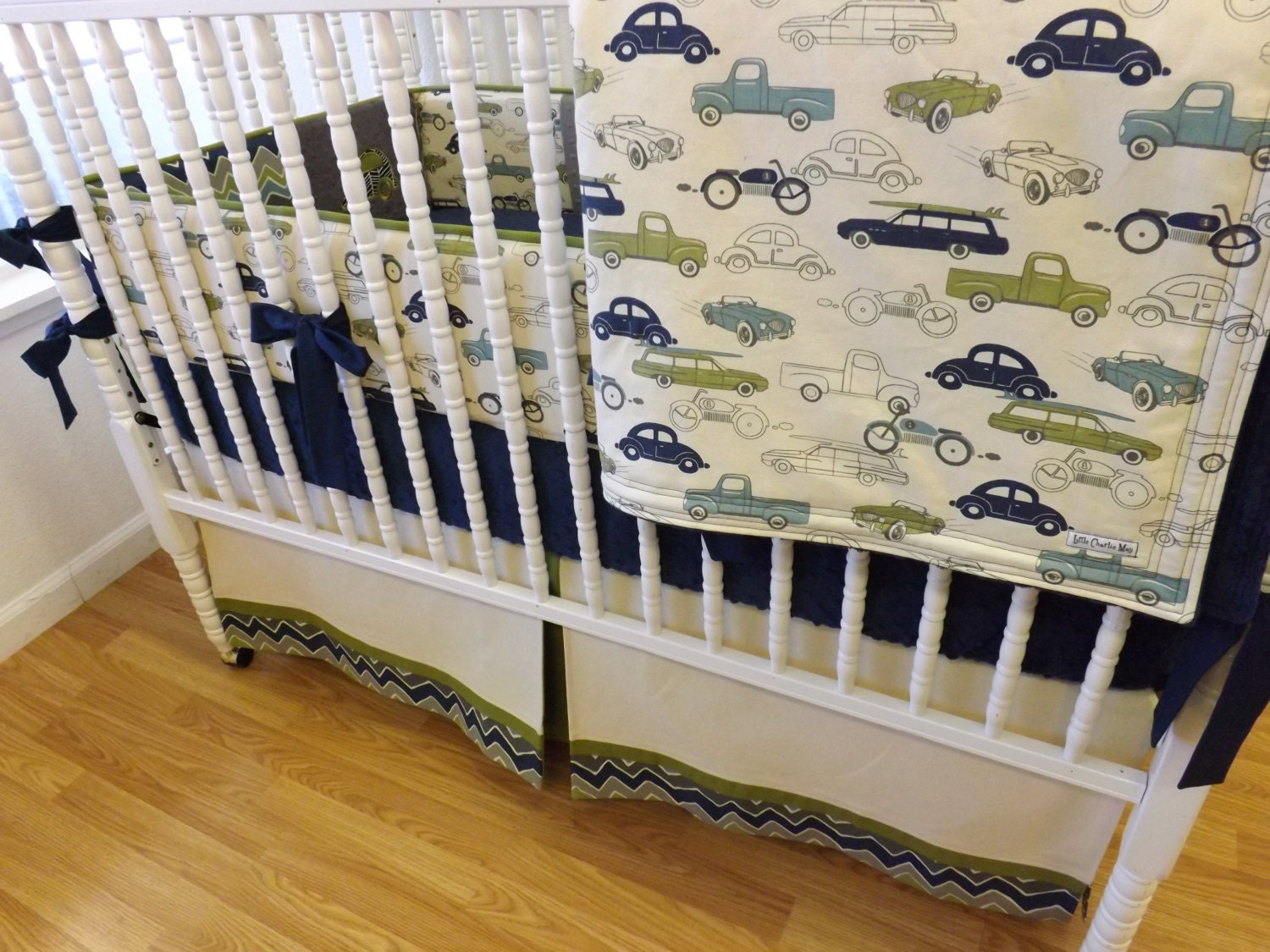 Baby Bedding Made To Order 4 Pc Boy Crib By LittleCharlieMay