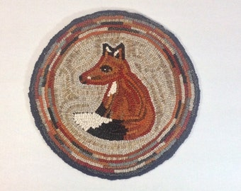 Rug Hooking KIT, Woodland Fox Chair Pad or Table Mat , J760