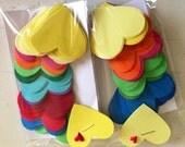 50 Paper Heart Pack Rainbow of Fun