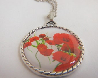 Red Poppies Pendant