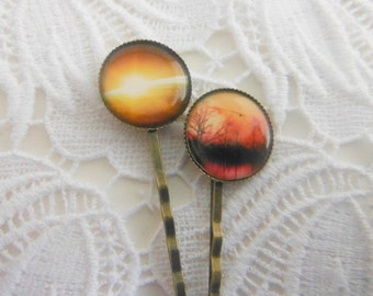 Sunrise Over Earth From A Satellite Sunset in Africa  Hair Clips Bobby Pins