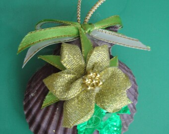 Christmas Seashell Flower Ornament
