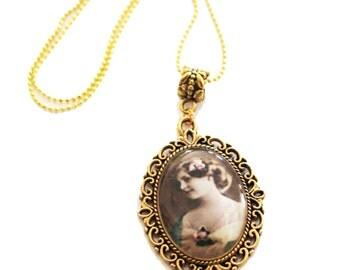 chai necklace, judaica, Hebrew necklace, cameo necklace, charm necklace, Chai charm, silver necklace