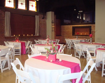 Custom Made Hot pink Satin Table Runner 90 x 16