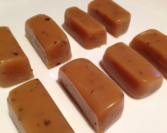 Caramel Candy, Blackberry Basil,  artisan candy, homemade, Gourmet, The Sticky Wrapper