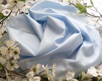 Blue Pima Cotton Sheen Sateen - 1 Yard