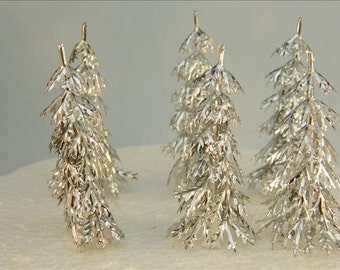 Vintage Inspired Silver Trees / Cake Topper / Frozen / Party / Decoration / Supplies / Winter