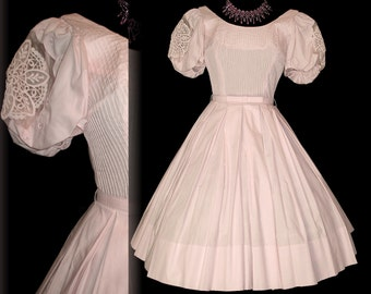 Pink 1950s Dress Couture Party Wedding Full Retro Mod New Look
