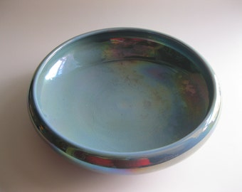 Cowan Pottery Iridescent Larkspur Blue Bowl or Planter  - FL
