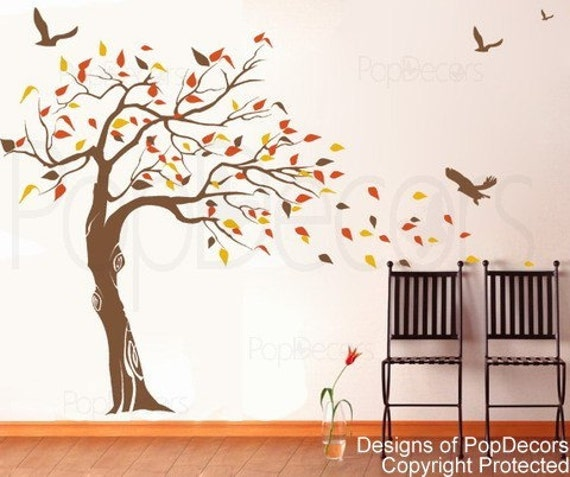 custom for Jackie Sowle - Beautiful Tree and Birds(71 inch H )